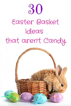 Easter basket ideas that aren't candy