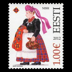 Estonia - Paradise of the North  Estonian Folk Costumes - Stamp - Estonian  Folk Costumes 65d50ccad7f8e