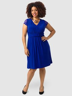 Virginia Dress In Cobalt Blue Go for a dress with a continuous line. V-neckline flatters the bust. Choose a high-waist, empire waist, or A-line which flows downward from the bust.