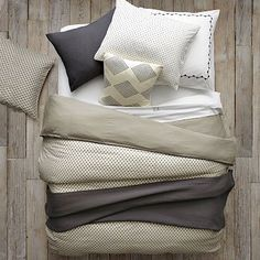 Layered Bed Looks - Neutral Luxe Linen #WestElm