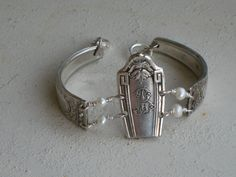 Upcycled Spoon Bracelet from Vintage by laughingfrogstudio on Etsy
