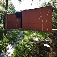 The Hill-Maheux Cottage (Kariouk Associates) I like several things about this one, including the metal details on the exterior that remind me of reeds or bamboo, the curved floor in the loft, and the sliding bug screens on the sitting porch.