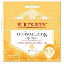 Burt's Bees Natural Moisturizing Lip Mask, Conditioning Lip Care with Meadowfoam Seed and Almond Oils, Single Use - 1 ct Burts Bees, Asmr, Marker, Best Drugstore Makeup, Lip Hydration, Natural Lip Balm, Natural Beauty, Natural Hair, Natural Makeup
