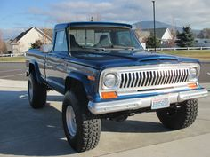 "1976 Jeep J10. Spring over lift with 37"" Military tires"