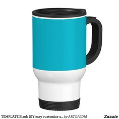 TEMPLATE Blank DIY easy customize add TEXT PHOTO 15 Oz Stainless Steel Travel Mug