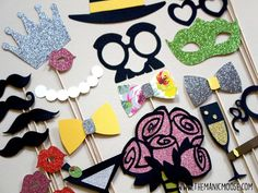 Limited Edition Photo Booth Props  Deluxe Set of by TheManicMoose