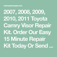 90 01 toyota camry rear end noise sway stabilizer bar bushing 2007 2008 2009 2010 2011 toyota camry visor repair kit order our easy 15 minute repair kit today or send us your visor we will repair it for you fandeluxe Choice Image