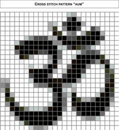 Cross Stitch Pattern: Aum by BooLeHeart on Etsy