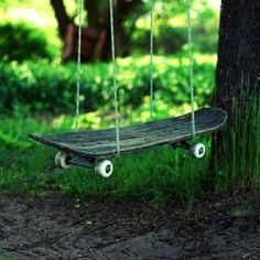 skate board swing ,how cool is this!!