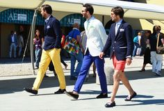 Color! This year we all need to just accept color pants. It will be ok. Put it with a navy blazer and it's prep cool.