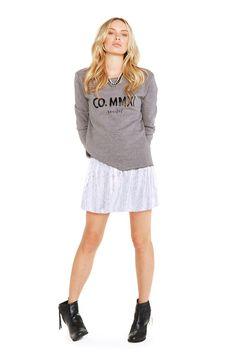 CO typography sweat & metallic skater skirt