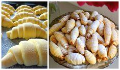 Tieto rožteky sú naozaj vynikajúce a u nás doma je o ne vždy bitka :-). Ja s cestom robím hneď, moja svokra ho necháva odležať, vďaka čomu sú rožky ešte krehkejšie. Rožky dlho vydržia.Potrebujeme:450 g … Baked Potato, Nutella, Deserts, Dairy, Food And Drink, Yummy Food, Sweets, Bread, Cheese
