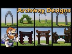 In today's Minecraft Vanilla Let's play Episode, We take a break from the survival grind and build a few concept designs for archways Thank you for Watching! Minecraft Houses Blueprints, Minecraft Plans, Minecraft Tutorial, Minecraft Crafts, Minecraft Designs, Minecraft World, Minecraft Stuff, Minecraft Structures, Minecraft Buildings