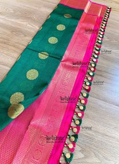 Latest Saree Kuchu/Tassel Designs to Beautify Your Saree - Kasu Coin Saree Tassels - Saree Kuchu New Designs, Saree Tassels Designs, Saree Blouse Neck Designs, Saree Blouse Patterns, Fancy Blouse Designs, Designer Blouse Patterns, Bridal Blouse Designs, Ppr, Couture