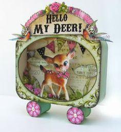 Hello My Deer! by Debrina Pratt Bambi, Altered Tins, Altered Art, Vintage Christmas, Christmas Crafts, Paper Art, Paper Crafts, Mint Tins, Tin Art