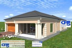 Tuscan House Plans, My House Plans, House Floor Plans, Two Bedroom House Design, 3 Bedroom House, Village House Design, Village Houses, Beautiful House Plans, Beautiful Homes