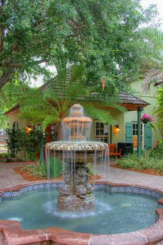 St. Augustine, Florida. This fountain sits in the court yard of one of the best places to stay.