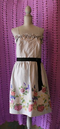 Anthropologie Dress By Velvet 12 Spaghetti Strap Floral 100% Cotton Summer/Beach