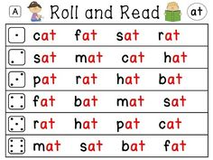 Word Family differentiated roll and reads for all word families!! Come in both words AND sentences and they all come like this with the word family in red AND with all black text!