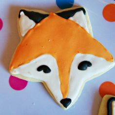 Fox party: cookies