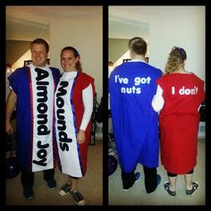 Almond Joy and Mounds costumes