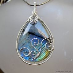 Labradorite & Silver pendant from DeCrisCreations on Artfire.