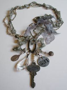 Relics and Ribbons Necklace - Beth Evans Ramos