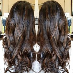 Her length and layers are gorgeous. Hopefully my hair will reach this length soon.   See more about Balayage, Low Lights and Hair.