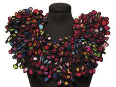 felted million dots collar by Danielle Gori-Montanelli