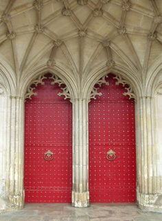 Back Doors Of Winchester Canvas Print / Canvas Art by Adrienne Fritze Stairs And Doors, Back Doors, Windows And Doors, Red Doors, Old Shutters, Canvas Art, Canvas Prints, Knobs And Knockers, Cathedral Church
