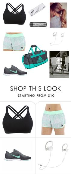 """Going to the Gym"" by leisure-alexa ❤ liked on Polyvore featuring Hurley, NIKE, Beats by Dr. Dre and adidas"