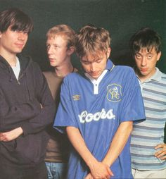 Music Life, August 1995 Graham with his hand on his hip Gorillaz, Blur Band, Charlie Brown Jr, Going Blind, Sufjan Stevens, Tartan Pants, Damon Albarn, Music Promotion, Britpop