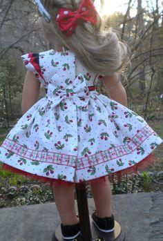 Cherry Sundress for 18 dolls like American Girl by mydollyscloset1