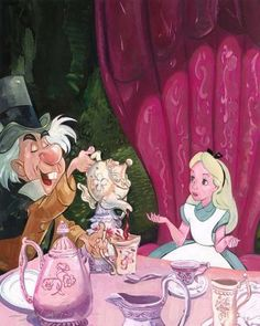 Jim Salvati A Very Important Date - From Alice in Wonderland Disney Art Disney Pixar, Film Disney, Arte Disney, Disney Animation, Disney Magic, Lewis Carroll, Disney Fine Art, Alice Madness, Alice In Wonderland Tea Party