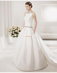 Col U profond Hiver Naturel Robes de mariée 2015
