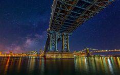 Stars and Colors of the Big Apple by Jackson Carvalho - Photo 93982981 / Great Pic, Great Shots, Google Backgrounds, New York City Ny, Manhattan Bridge, Light Pollution, Sales Image, George Washington Bridge, Urban Landscape