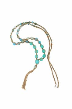 Chan Luu Aqua Semi-Precious Mix Necklace….. Terrific Single or Layered!