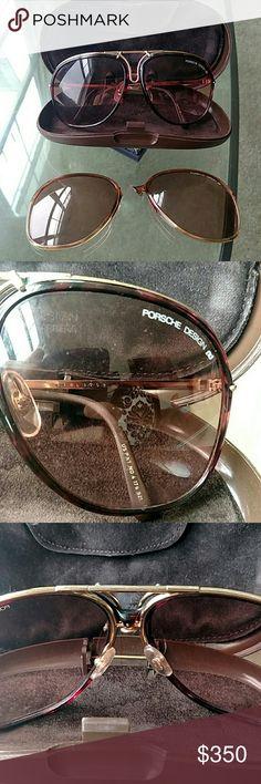 0c9e7310c6 Rare Porsche Aviators Extremely rare sunglasses. Two sets of lenses