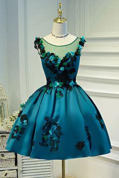 Prom Dresses Chiffon, Prom Dresses Short, Homecoming Dress A-Line Homecoming Dresses 2018 Lace Ball Gowns, Lace Party Dresses, Ball Dresses, Flower Girl Dresses, Girls Dresses, Dress Party, Wedding Dresses, Princess Dresses, Prom Gowns
