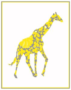 Wall art - create my own with scrapbook paper in yellows for the baby's room!