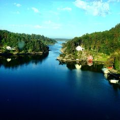 Justøy bridge, direction against city of Kristiansand. Beautiful Norway, Kristiansand, Bridge, River, City, Pictures, Outdoor, Photos, Outdoors