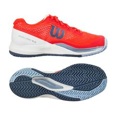 61e71ba058a9 Wilson RUSH PRO 3.0 Women s Tennis Shoes Coral All Court Racquet NWT  WRS324750  Wilson