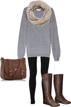 If I see one more big sweater+leggings+riding boots combo I may lose my mind. Most overdone fall look ever.