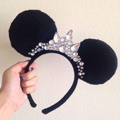 Jeweled Crown Princess Mickey Ears by KimsCustomCraft on Etsy