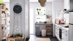 Energy efficient appliances in a large kid-friendly kitchen