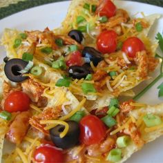 """Restaurant Style Chicken Nachos 