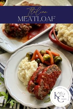 Italian Meatloaf is a comfort food classic dinner. This meatloaf can be made with or without gluten and is topped with a sweet tomato glaze sauce. #dinner #maindish #meatloaf #comfortfood Entree Recipes, Dinner Recipes, Cooking Recipes, Sweets Recipes, Tasty Dishes, Food Dishes, Main Dishes, Venison Recipes, Meatloaf Recipes