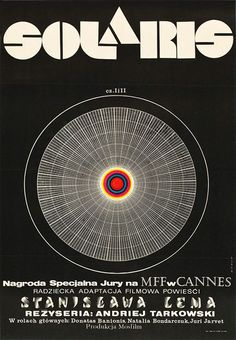 Movie poster for Soviet-Era Sci-Fi film based on the novel Solaris by Polish author Stanisław Lem. Solaris on Wikipedia Polish Movie Posters, Polish Films, Stanley Kubrick, Film Movie, Poster S, Poster Prints, Art Print, Film Science Fiction, Fiction Film