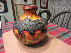 fat lava pottery | West German Pottery Fat Lava Vase | Toronto Trashures