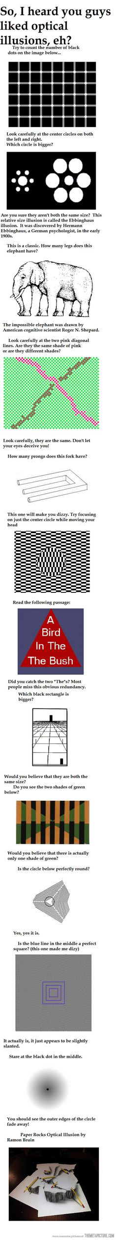 Here are some optical illusions